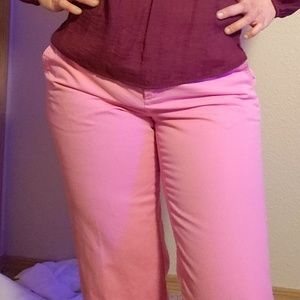 J. CREW pink slacks size 8
